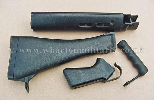 British Issue L1A1 7 62mm SLR Black Plastic Furniture Set